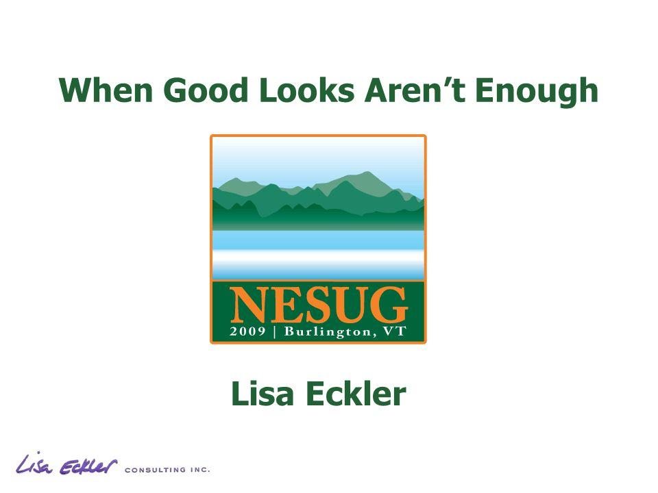 When Good Looks Arent Enough Lisa Eckler