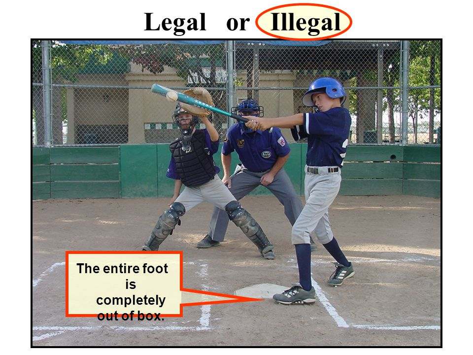 Legal or Illegal The entire foot is completely out of box.