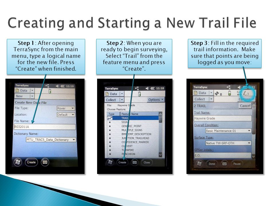 While logging the trail, Under the Options tab, select Nest.