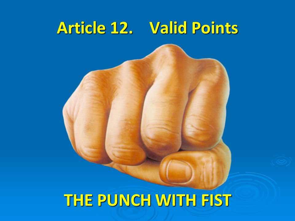 THE PUNCH WITH FIST