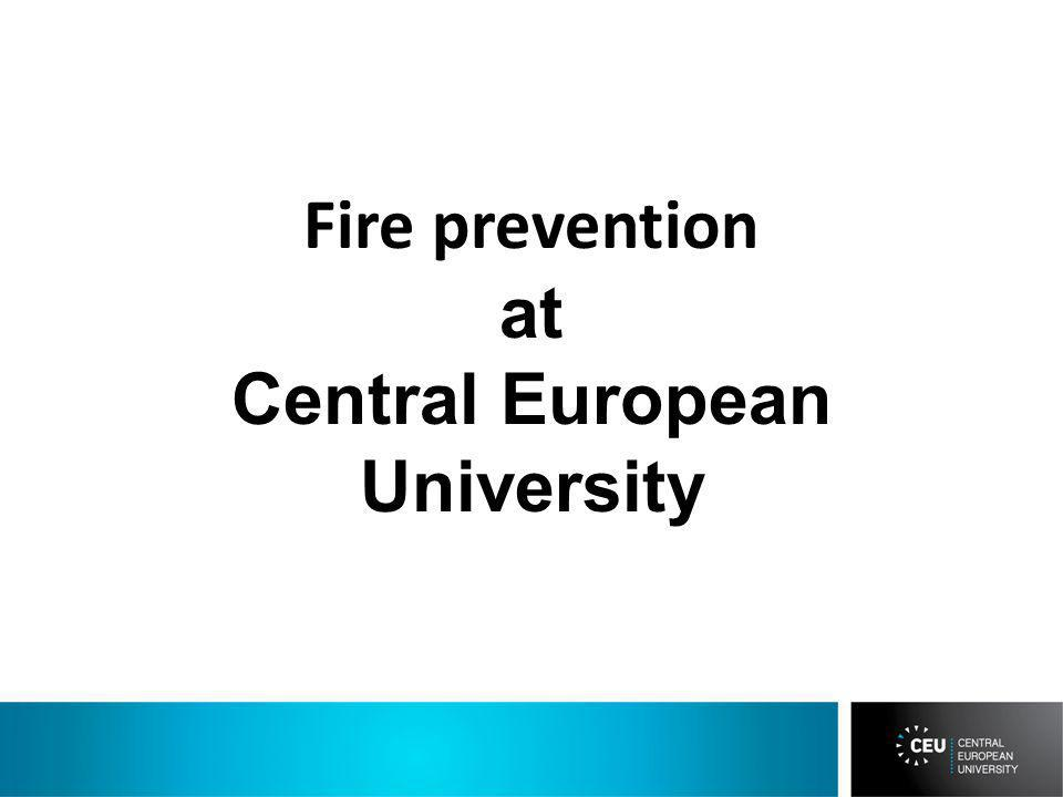 Fire prevention at Central European University