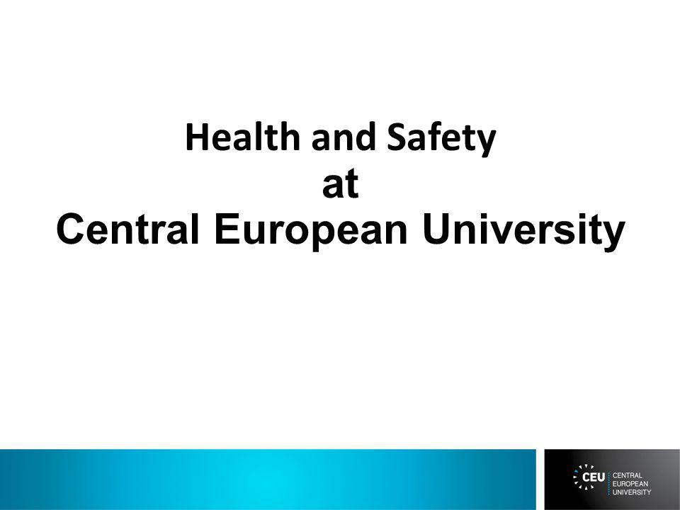 Health and Safety at Central European University