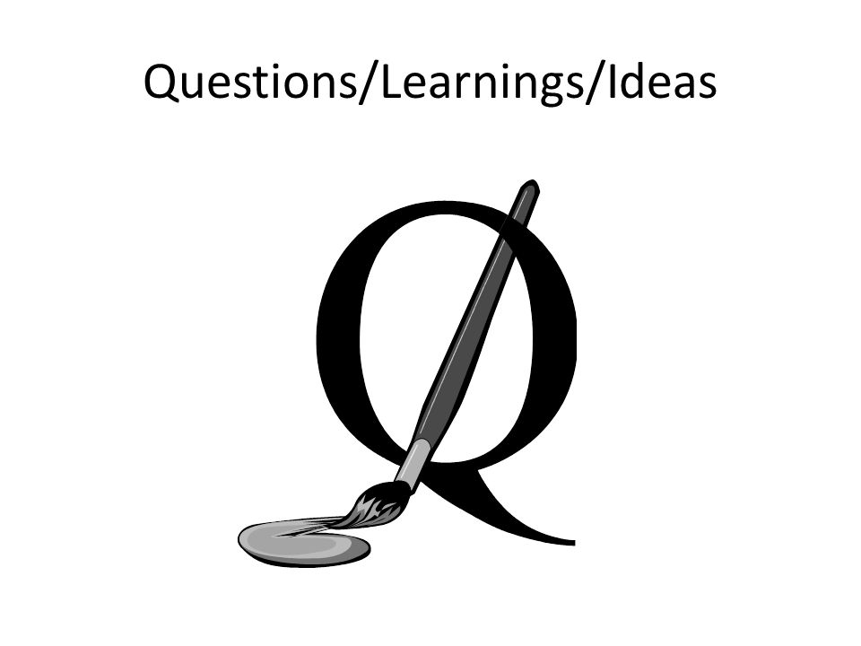 Questions/Learnings/Ideas