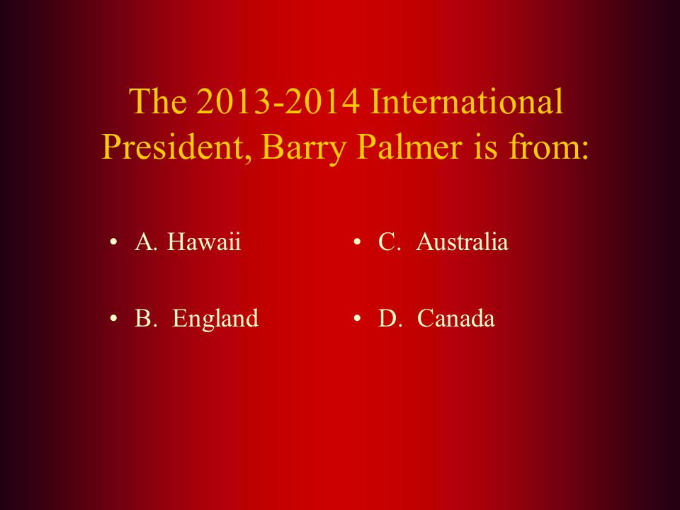 Answer: The official web site of Lions Clubs International is (C.) lionsclubs.org.