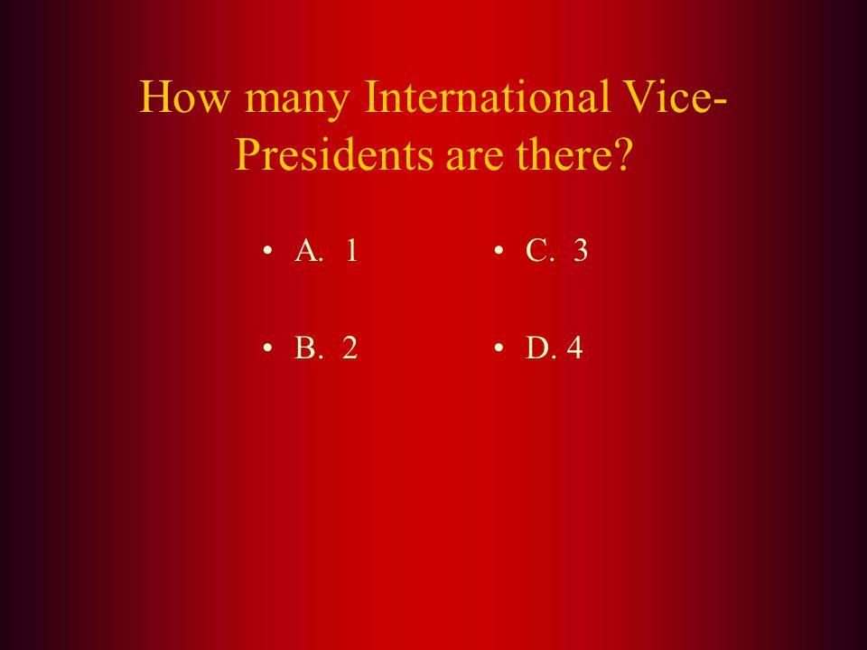 Answer: (C.) Berowra, NSW, Australia is the home of International President Barry Palmer.