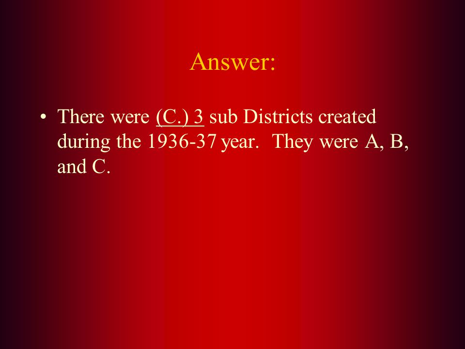 During the 1936-37 year, plans were made to subdivide Wisconsin District 27 into smaller districts, each with its own District Governor. How many Sub