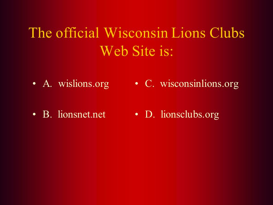 Answer: The first Wisconsin Lions Newsletter was made up by Deputy District Governor Frank V.