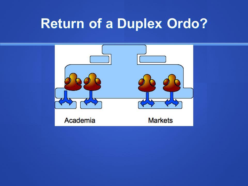 Return of a Duplex Ordo?
