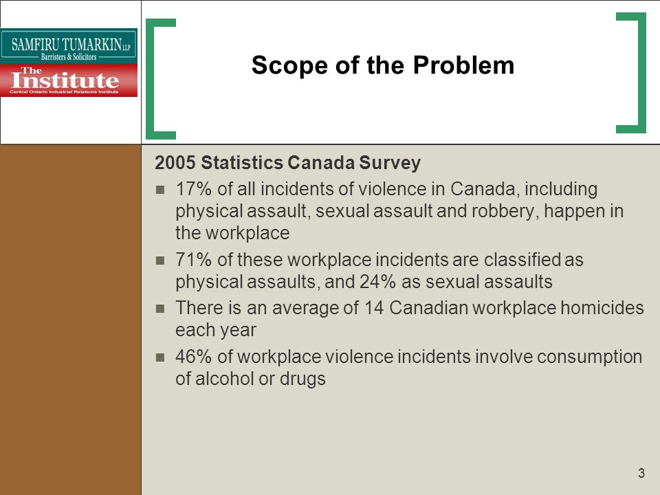 Scope of Assessment Is the Employer required to assess the risks of violence between individual workers.