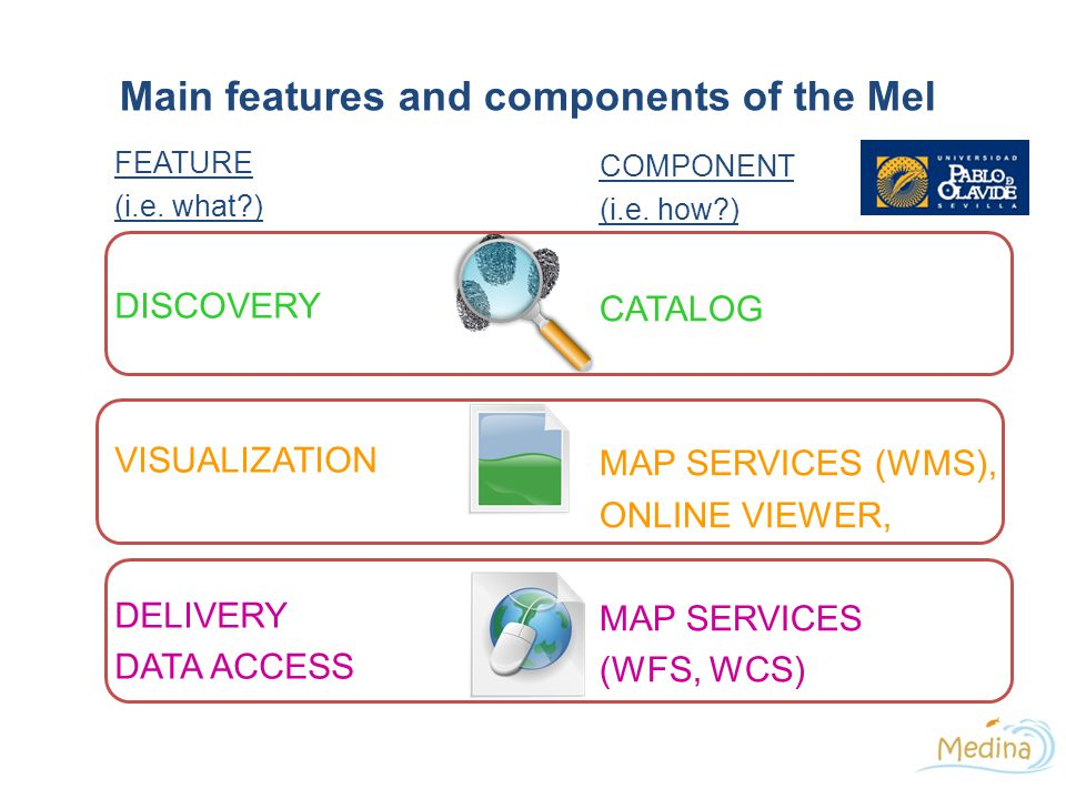 Main features and components of the MeI FEATURE (i.e.