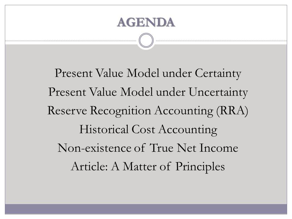 Present Value Model under Uncertainty 3.