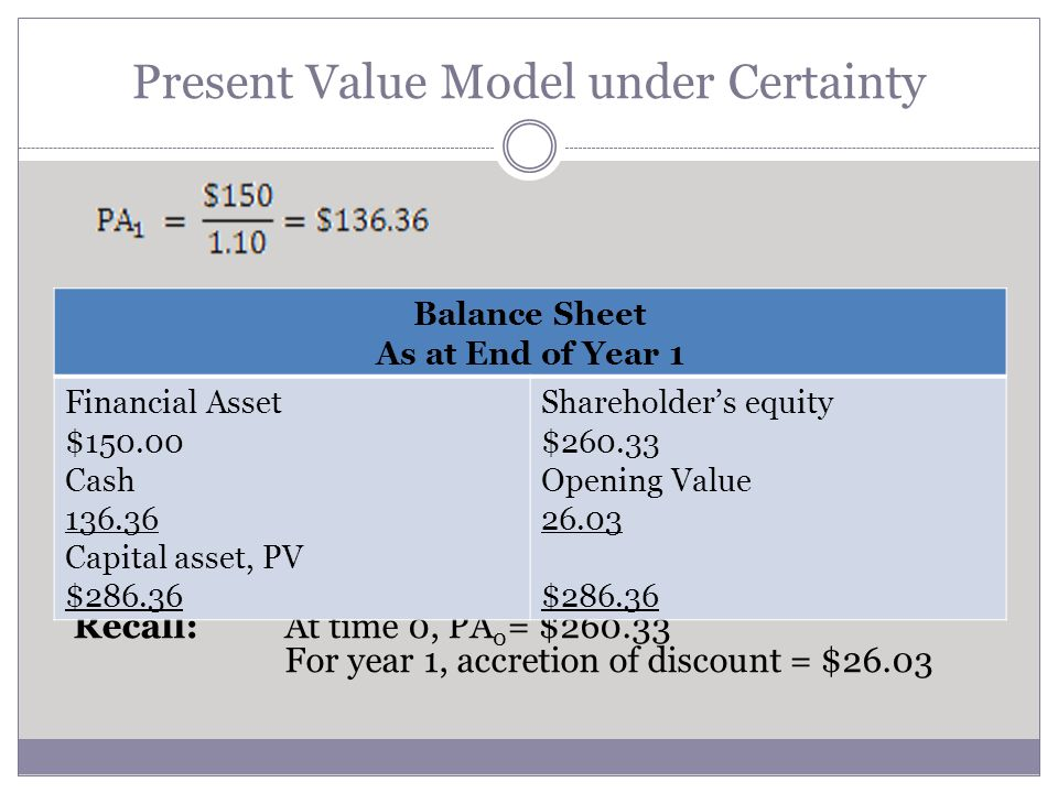 Current Value Accounting Historical Cost Accounting History does not repeat itself exactly Current value of assets/liabilities = best indicator of future prospects Income statement explains the changes in assets/liabilities Balance Sheet assumes greater importance Past performance is the best indicator of future performance Accomplished revenues represent solid foundation for future earning Statement of Earnings is the most important Balance Sheet used to report asset costs matched against revenues it generated Which is better for investors?
