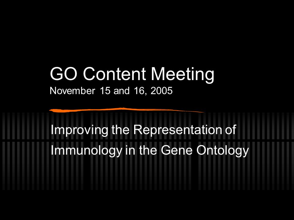 Conceptual Problems in Immunology Term Organization in the GO (3) Separate GO terms for antigen processing and antigen presentation exist, without recognition of the relationship of these two concepts.