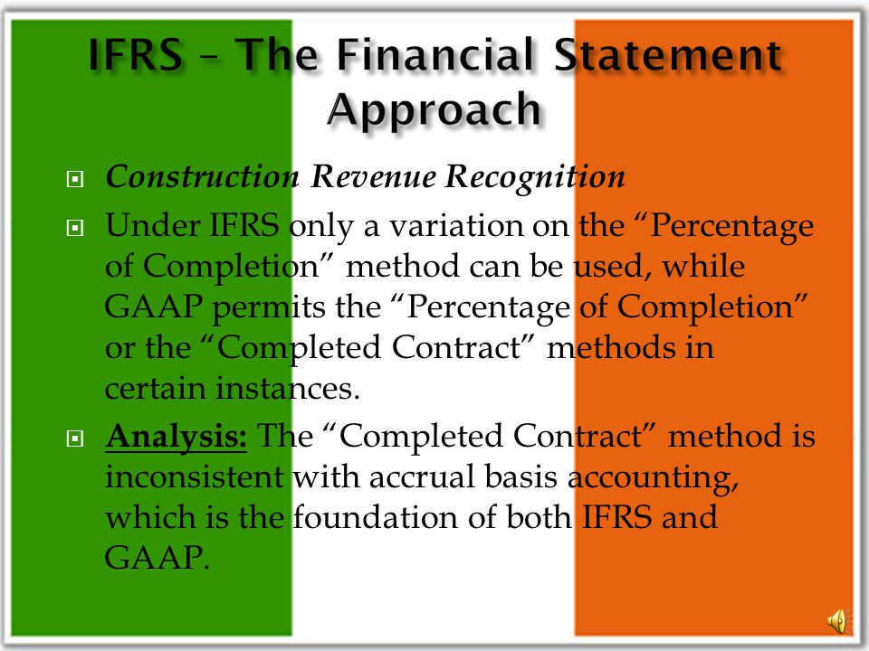 Liabilities and Equity There are a number of relatively minor differences between IFRS and GAAP. Chief among them is the possibility of considering ce