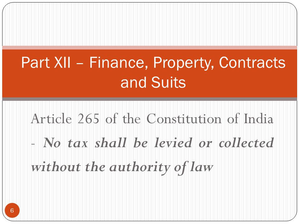 Part XI – Relation Btwn Union – States - 245 Parliament Make Laws – Whole or any part of the Territory of India State Legislature – Whole or any part of the State No law made by Parliament shall be deemed to be invalid on the ground that it would have extra-territorial operation 7
