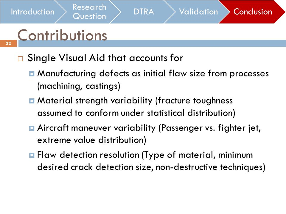 Single Visual Aid that accounts for Manufacturing defects as initial flaw size from processes (machining, castings) Material strength variability (fra