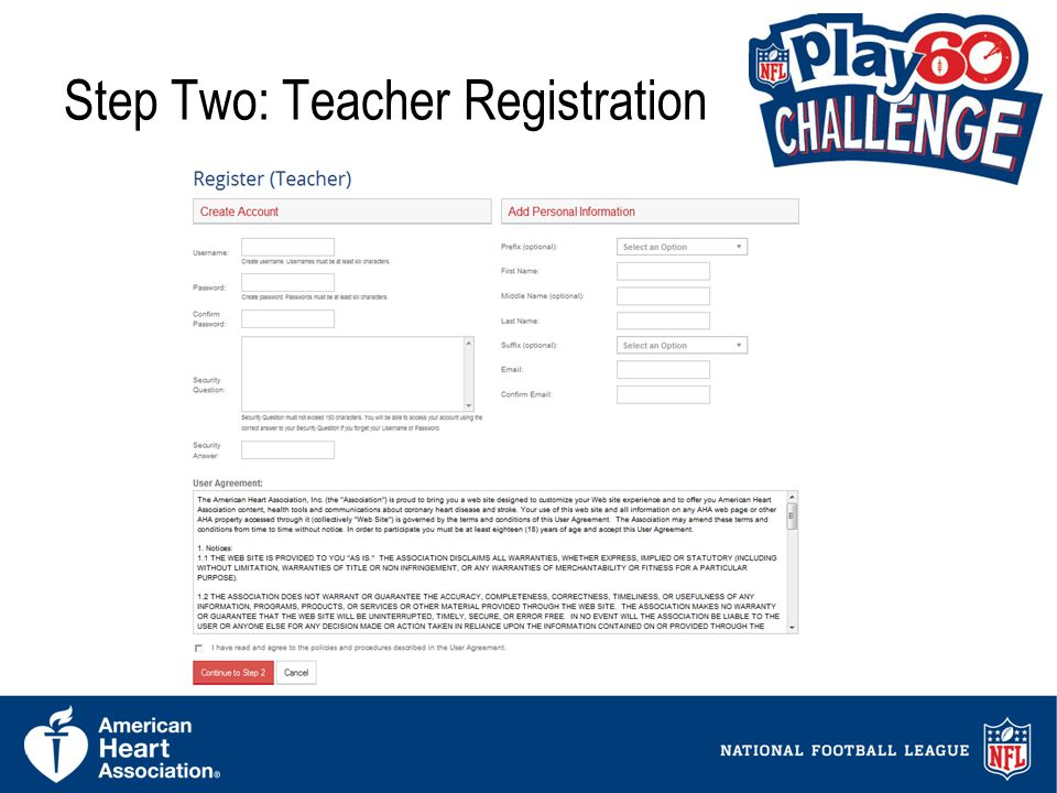 8 Step Two: Teacher Registration