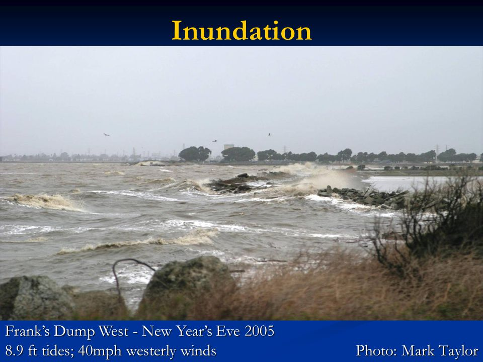 Franks Dump West - New Years Eve 2005 8.9 ft tides; 40mph westerly windsPhoto: Mark Taylor Inundation