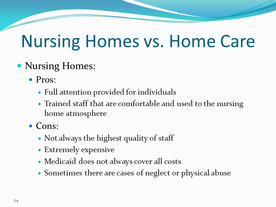 24 Nursing Homes vs.