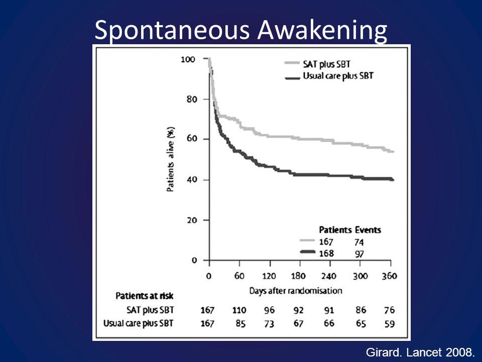 Spontaneous Awakening Girard. Lancet 2008.