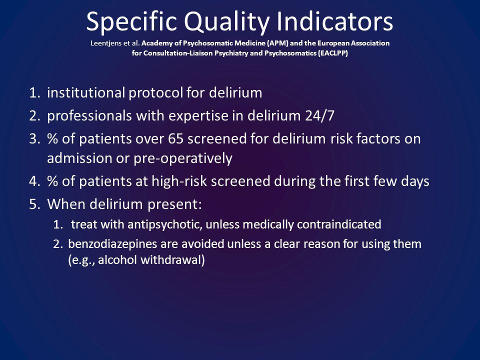 Specific Quality Indicators Leentjens et al.