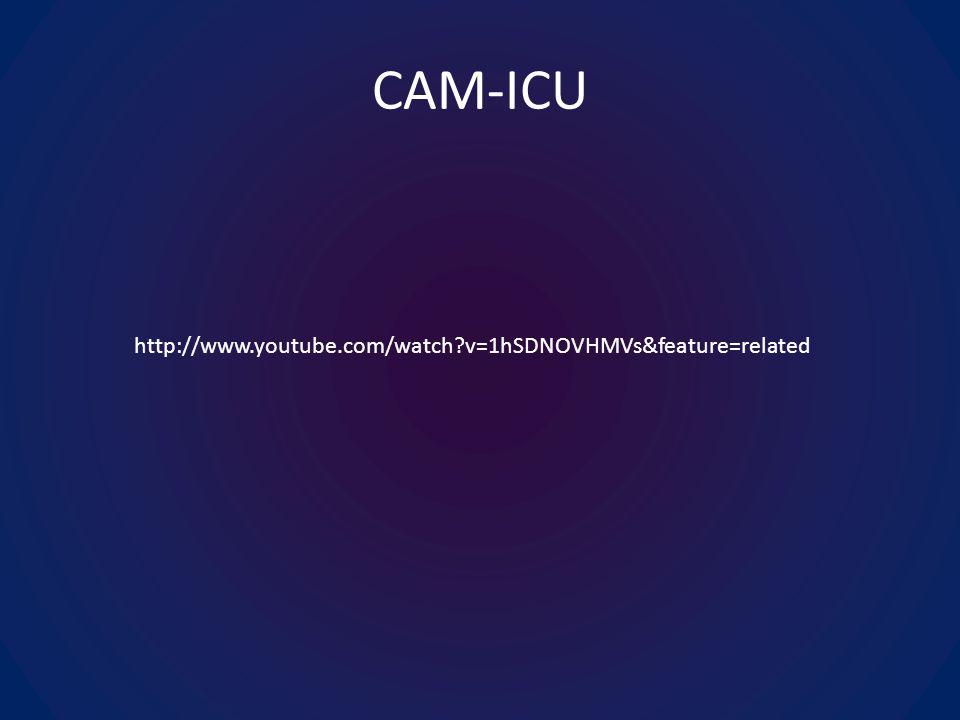 CAM-ICU http://www.youtube.com/watch v=1hSDNOVHMVs&feature=related