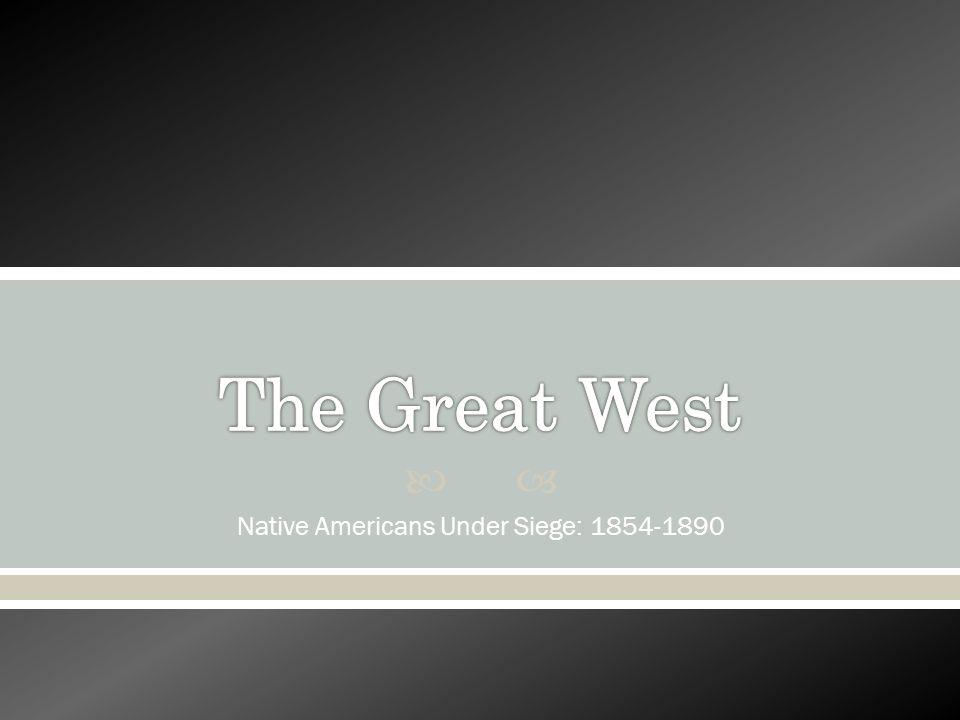 Native Americans Under Siege: 1854-1890