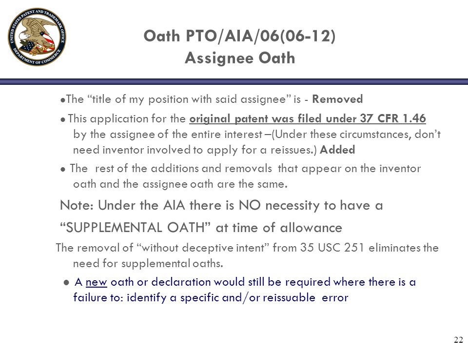 Oath PTO/AIA/06(06-12) Assignee Oath The title of my position with said assignee is - Removed This application for the original patent was filed under