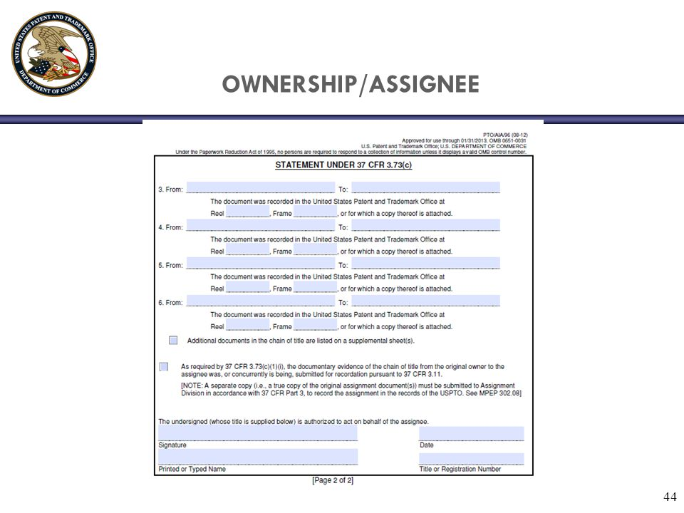 OWNERSHIP/ASSIGNEE 44