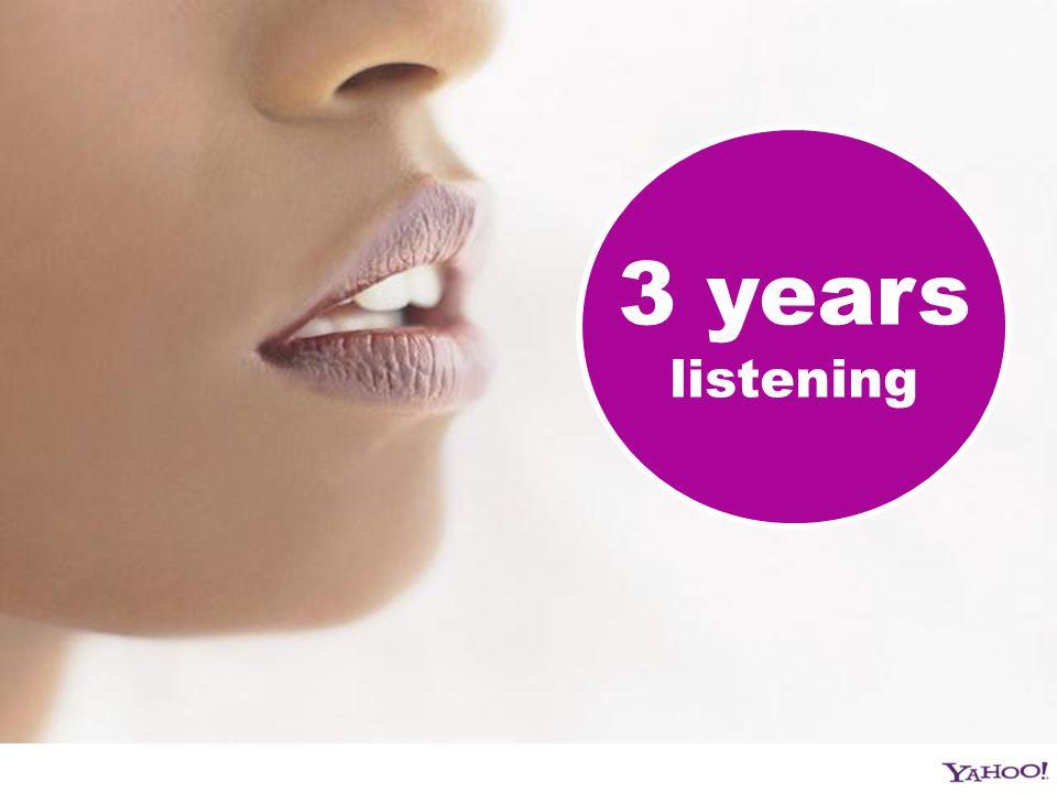 3 years listening