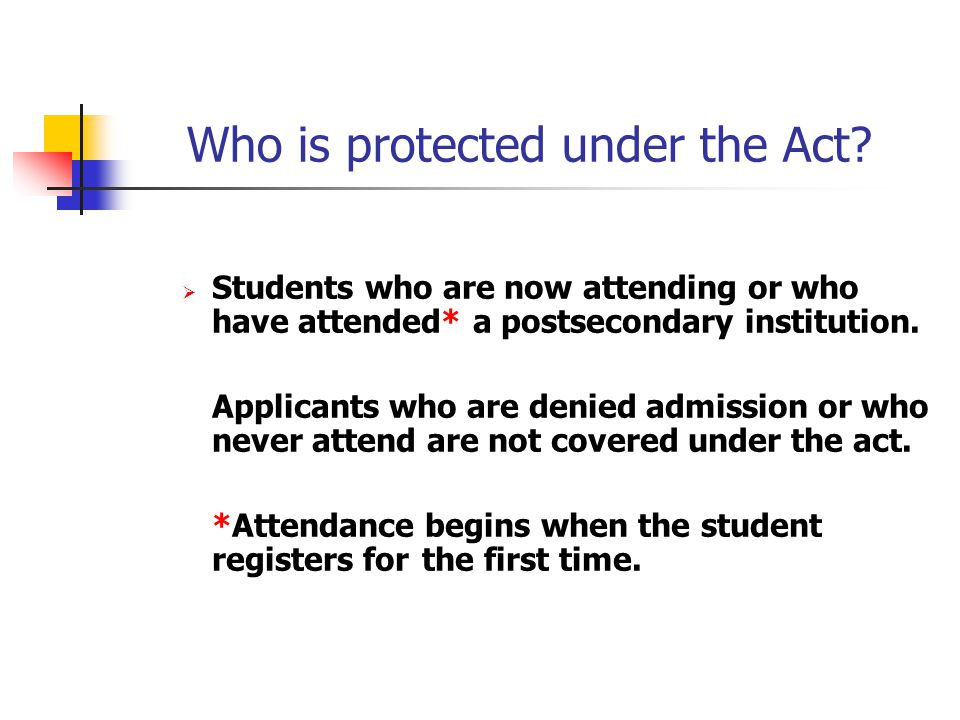 Who is protected under the Act.