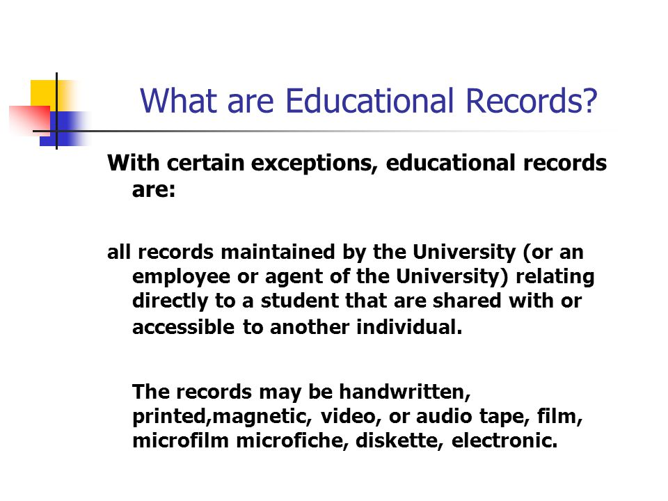 What is not an educational record.
