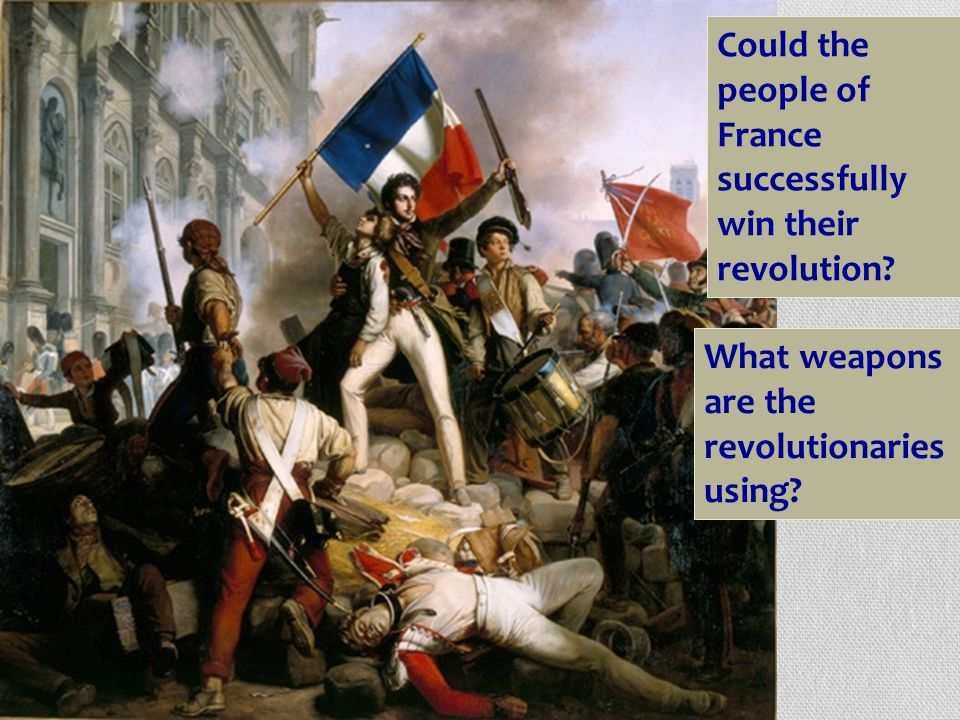 Could the people of France successfully win their revolution.