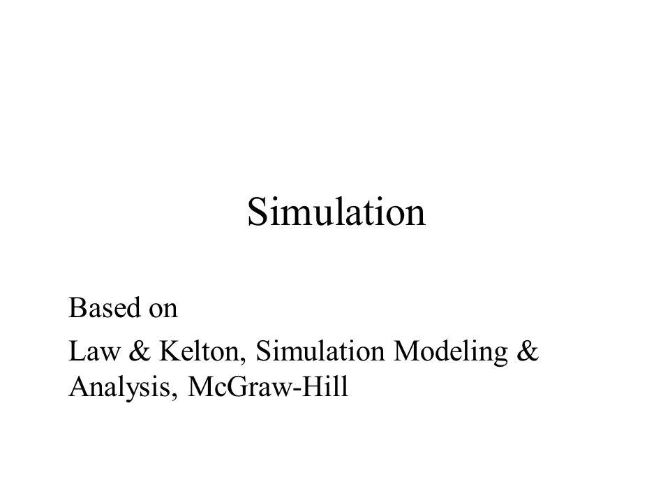 Simulation Based on Law & Kelton, Simulation Modeling & Analysis, McGraw-Hill