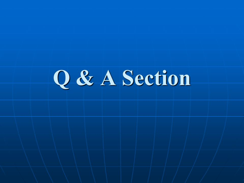 Q & A Section