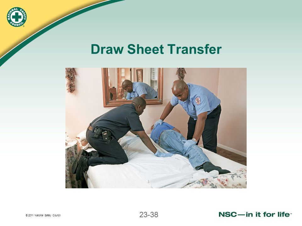 © 2011 National Safety Council 23-38 Draw Sheet Transfer