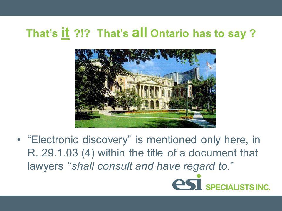 Epilog: Sedona Canada Principles 4 - 6 4.