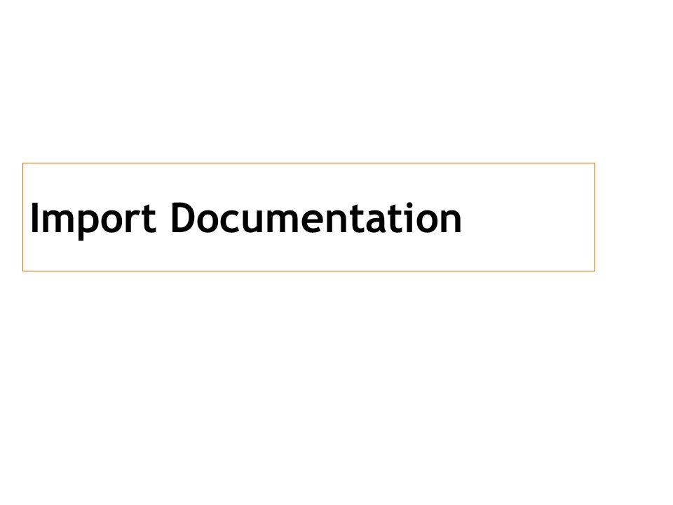 Import Documentation