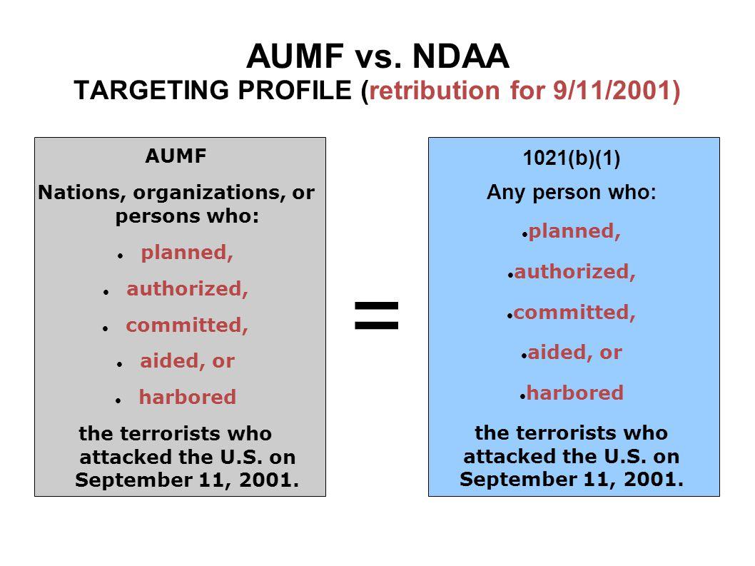 AUMF vs.