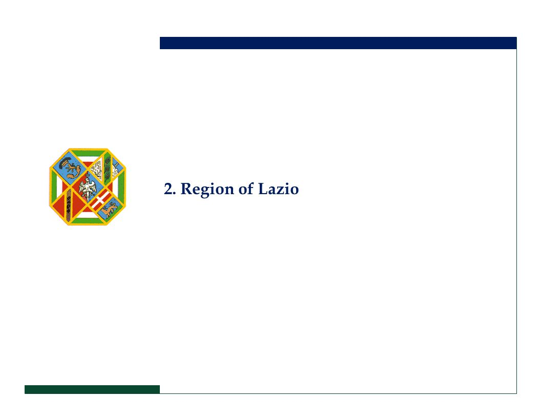 2. Region of Lazio