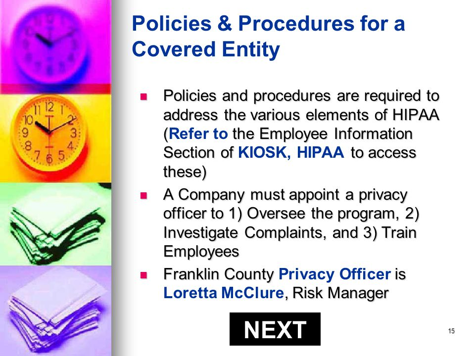 14 What are an Individuals Rights under HIPAA.