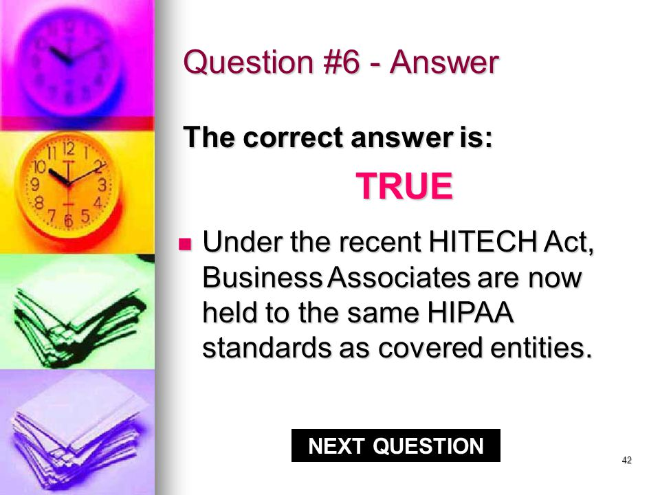 41 Question #6 - Answer CORRECT!!.