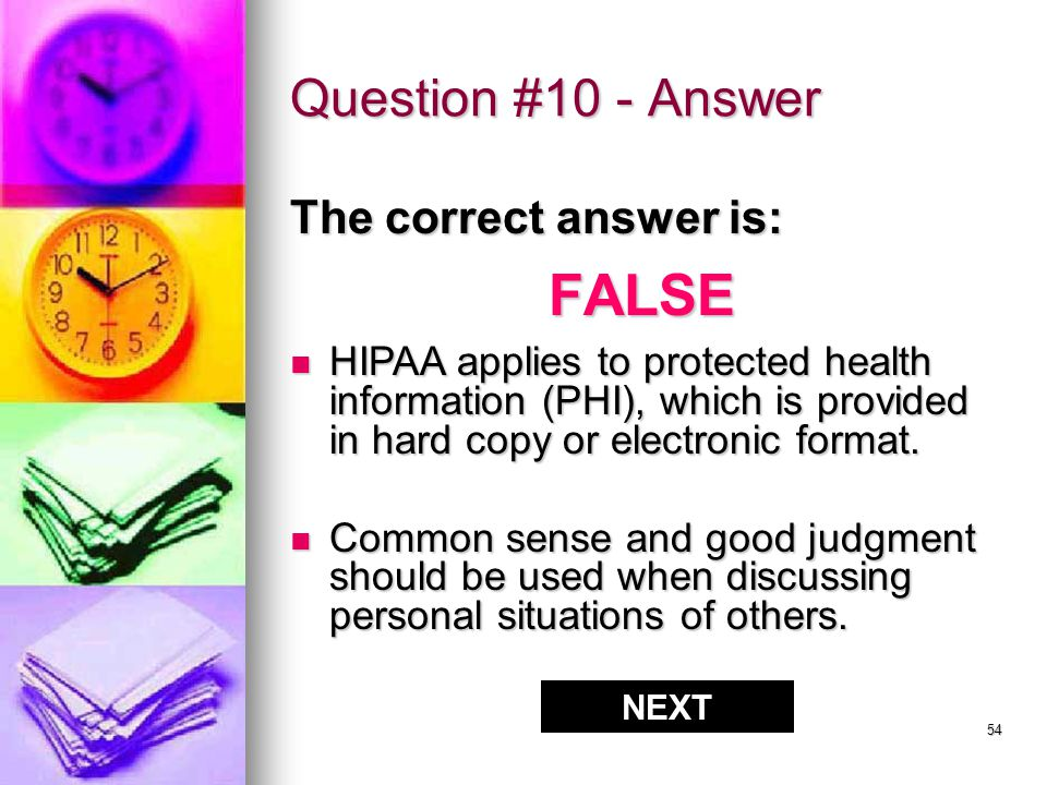 53 Question #10 - Answer CORRECT!!.
