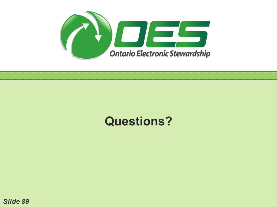 Questions Slide 89