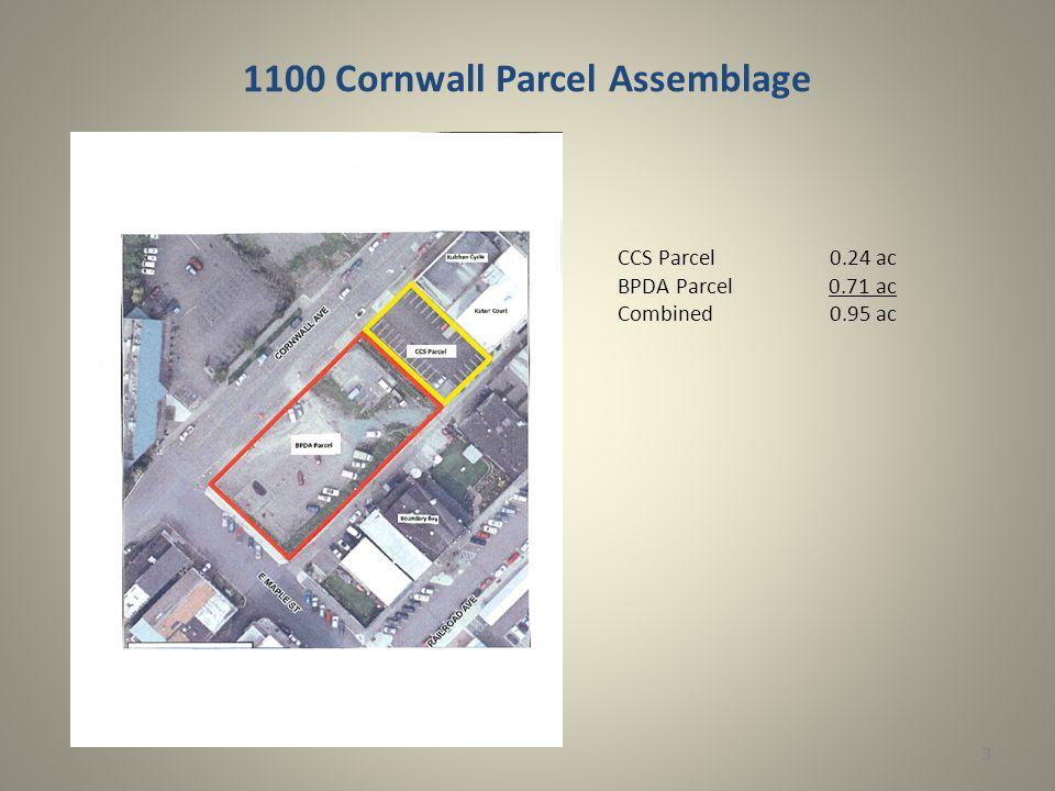 1100 Cornwall Parcel Assemblage 3 CCS Parcel 0.24 ac BPDA Parcel0.71 ac Combined 0.95 ac