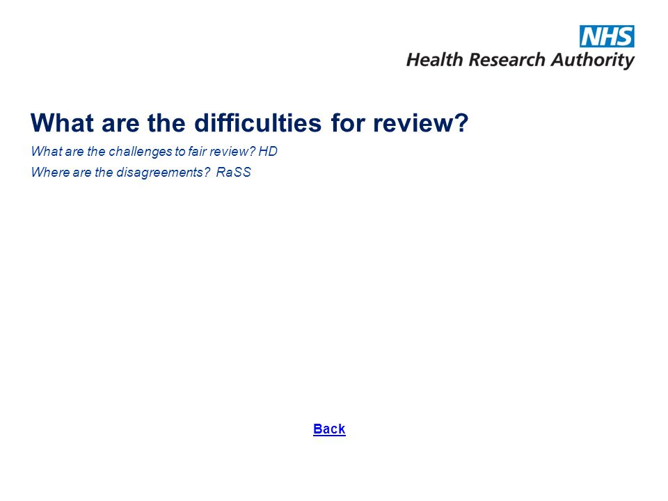 What are the difficulties for review.What are the challenges to fair review.