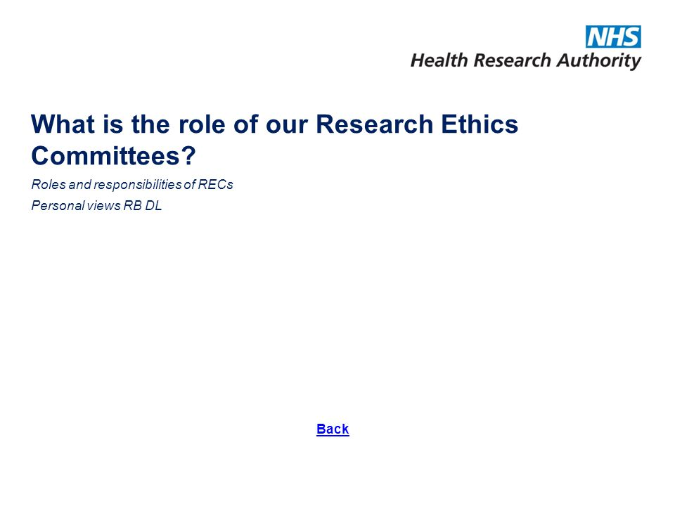 What is the role of our Research Ethics Committees.