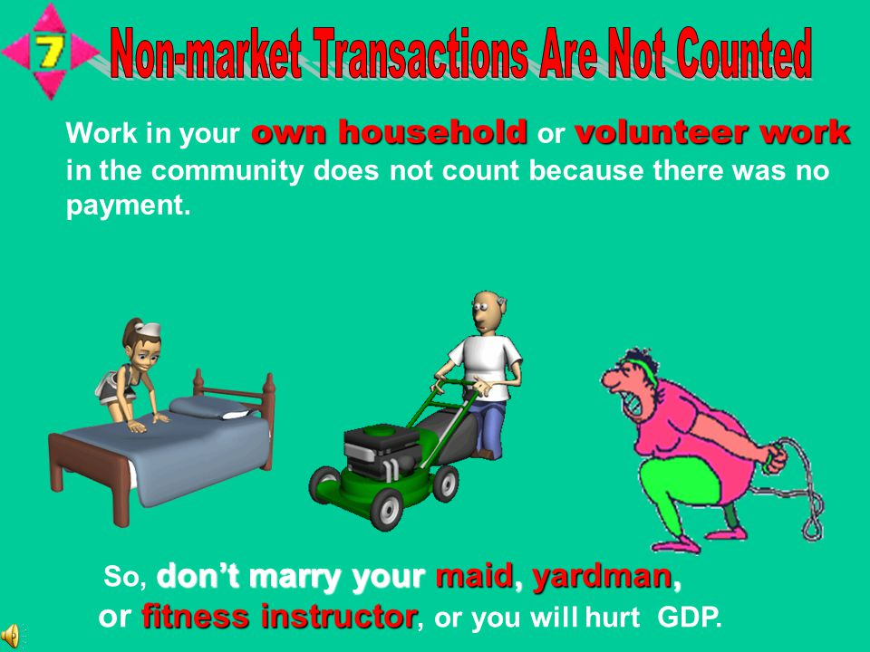 own household volunteer work Work in your own household or volunteer work in the community does not count because there was no payment. You need to do
