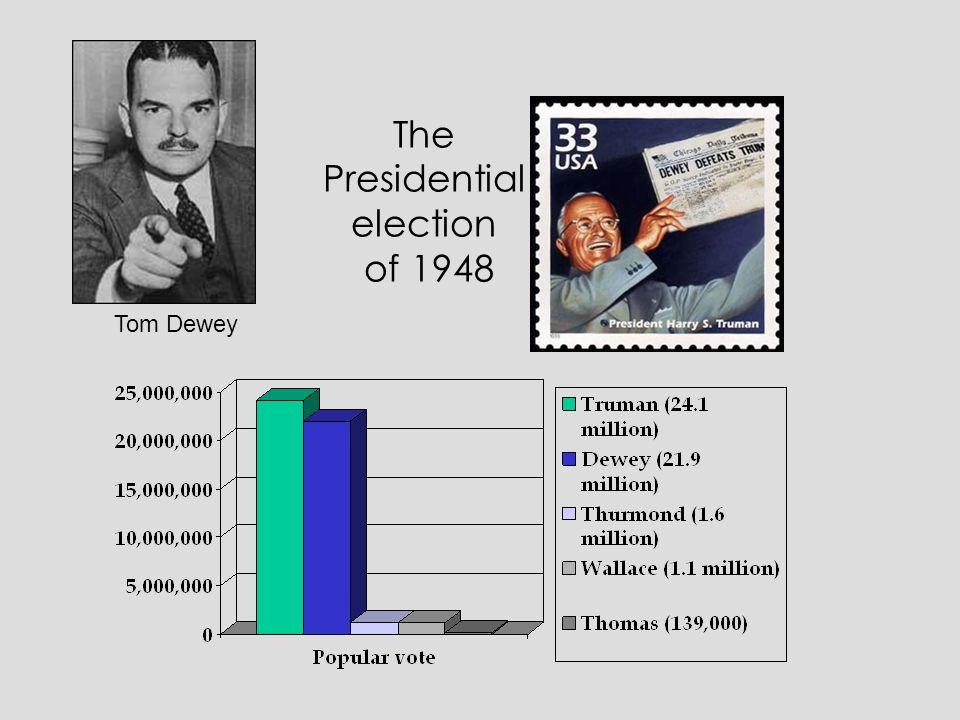 The Presidential election of 1948 Tom Dewey