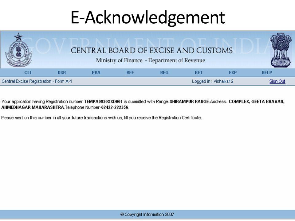 E-Acknowledgement